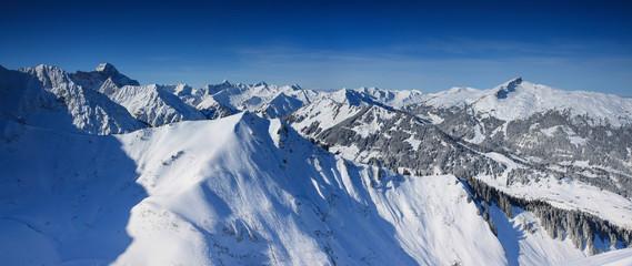 Alpen Panorama von der Kanzelwand, Kleinwalsertal