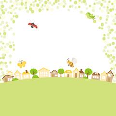新緑の季節の街並み
