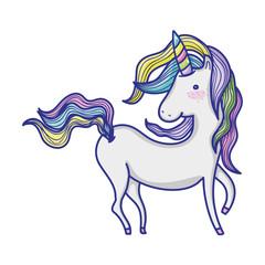 sweet unicorn with beautiful hair design