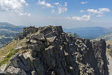 Amazing Landscape from Kamenitsa peak, Pirin Mountain, Bulgaria