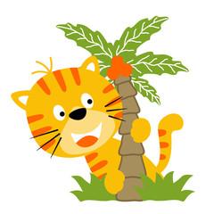 Funny cat cartoon. Eps 10