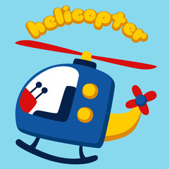 Helicopter cartoon. eps 10