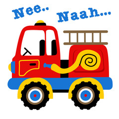 Fire truck cartoon. Eps 10
