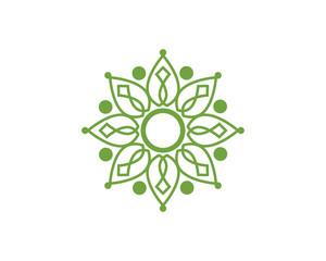 Leaf ecology nature Logo Template