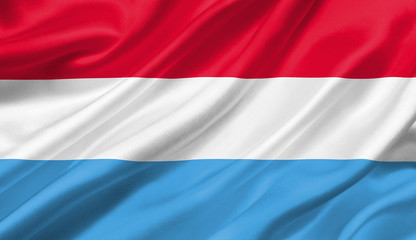 Luxembourg flag waving with the wind, 3D illustration.