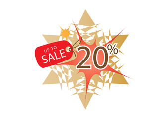 Sale banner with 20 percent discount and template illustration design. Vector EPS10