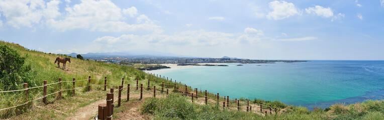 Hamdeok beach and Olle trail course No.19 in Seoubong peak