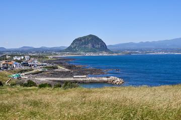Landscape of southwestern coast of Jeju Island