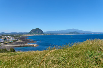 Landscape of southwestern coast of Jeju Island