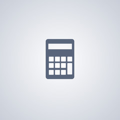 Calculator icon, mathematics icon
