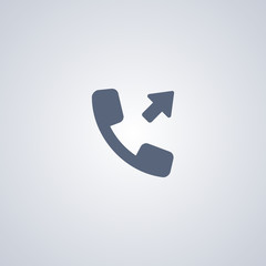 Outgoing call vector icon