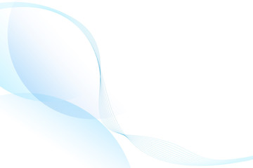 Abstract blue lines on a white background. Line art. Vector illustration.copy space.