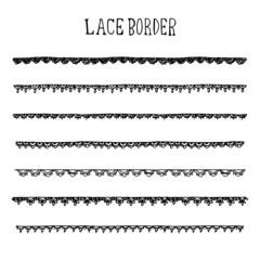 Lace Border Illustration Pack