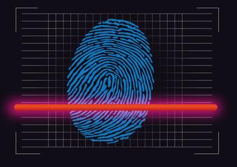 empreinte - empreinte digitale - scanner - identité - crime - police - identification - enquête - identifier
