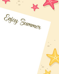 Happy summer day poster style