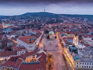 Pecs, Szechenyi Square Bird eye view