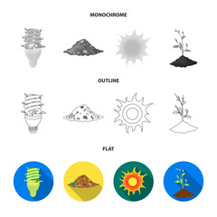 A garbage can, a diseased tree, a wind turbine, a key to a bio car.Bio and ecology set collection icons in flat,outline,monochrome style vector symbol stock illustration web.