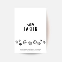 Easter egg  greeting card. Place for your text.