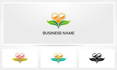 Honey Hive Natural Leaf Logo
