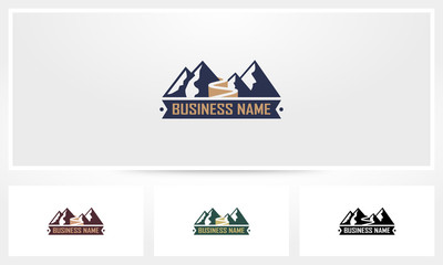 Mountain Road Path Logo