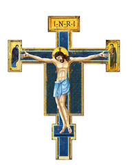 icon of the crucifixion of Jesus Christ / digital painting