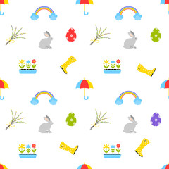 Cute Easter seamless pattern.