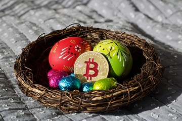 Easter Bitcoin coin