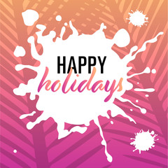 happy holidays – template