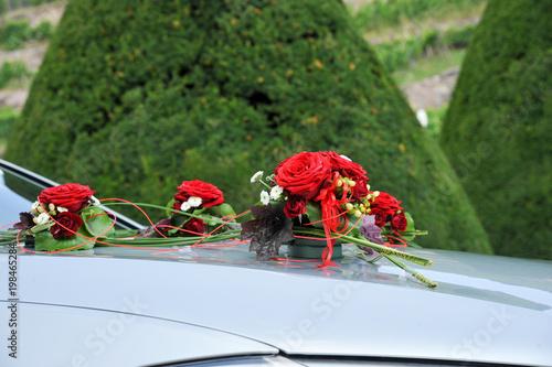 Brautauto Hochzeit Schmuck Motorhaube Pkw Stockfotos Und