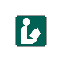 USA traffic road sign.general information sign for a library. vector illustration