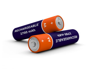 piles rechargeable AA 3D