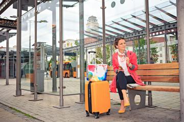 at bus and rail station