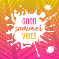 good summer vibes – card template