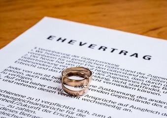 symbolischer Ehevertrag