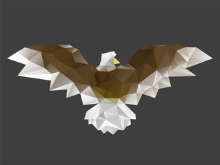 Low poly triangle eagle
