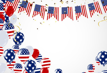 4th of July, Happy Independence Day Banner Vector illustration,USA Independence Day banner for sale, discount, advertisement, web etc