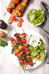 skewer barbecue, beef
