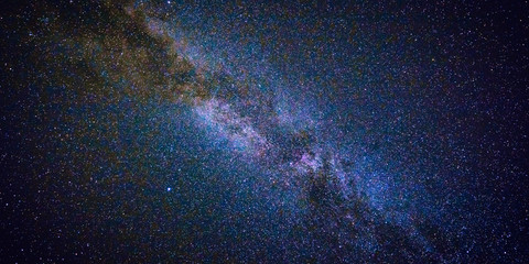 Night sky with lot of shiny stars, natural astro web banner background