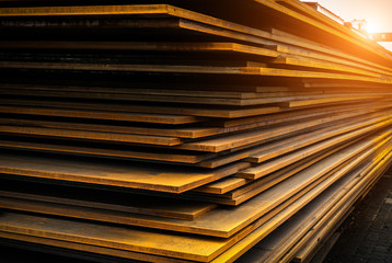 There is a lot of steel in the warehouse, at the cargo terminal