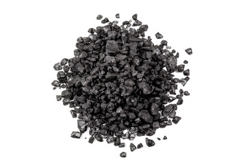 heap of black Hawaiian lava salt