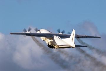 cargo plane engine emission Wall mural
