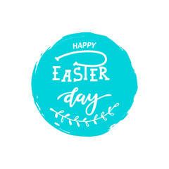 Hand sketched Happy Easter text