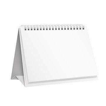White, template, mockup calendar for design.