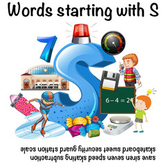 Poster design for words starting with S