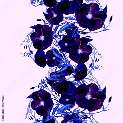 Watercolor Seamless Floral Pattern Trendy Background For Textile Print Invitation Wallpaper