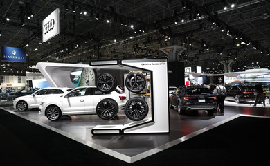 General view of the floor at the New York Auto Show in New York