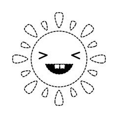 Kawaii sun icon