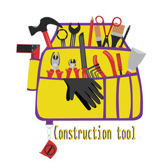 construction bag with tools