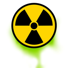 Nuclear spillage danger sign icon