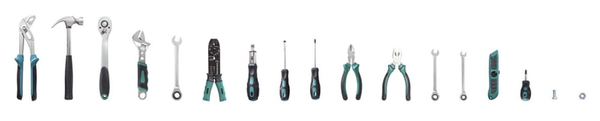 Tools set isolated on white background